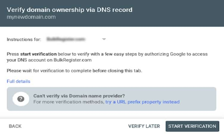 جوجل تتيح التحقق التلقائي عبر DNS في لوحة ادوات مشرفى المواقع0