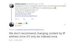 جوجل تنصح بعدم تغيير المحتوى على اساس عنوان IP الزائر