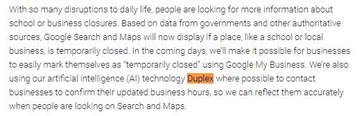 النشاط التجاري على جوجل