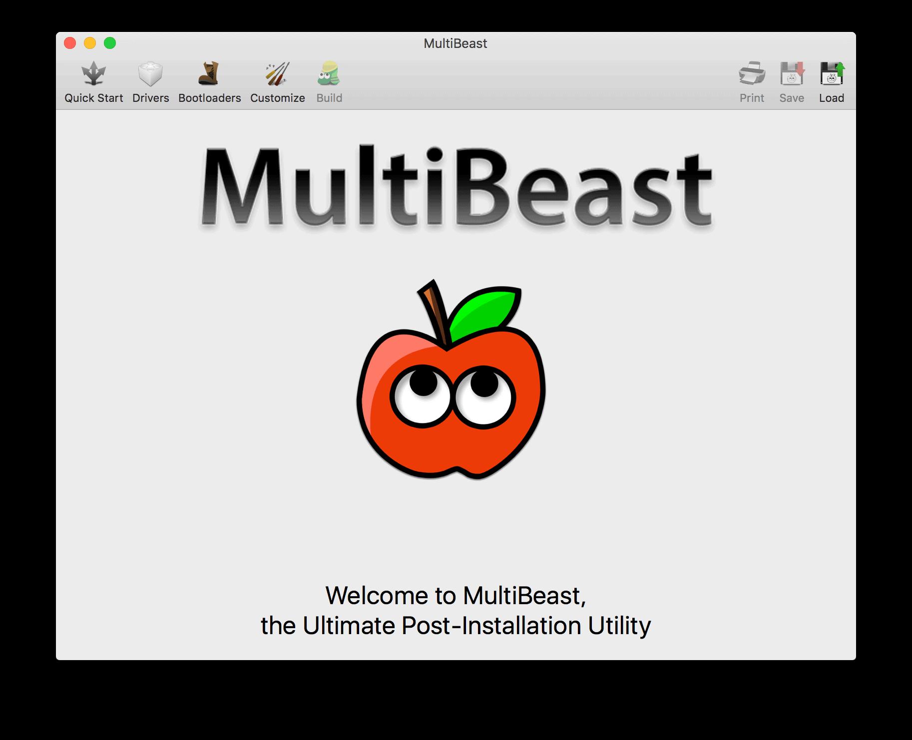 Multibeast إعدادات