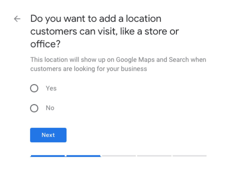 جوجل بيزنس ادخال العنوان