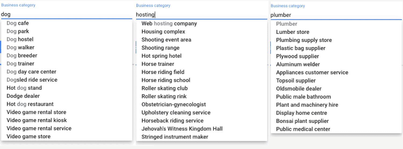 جوجل بيزنس اقتراحات الاعمال