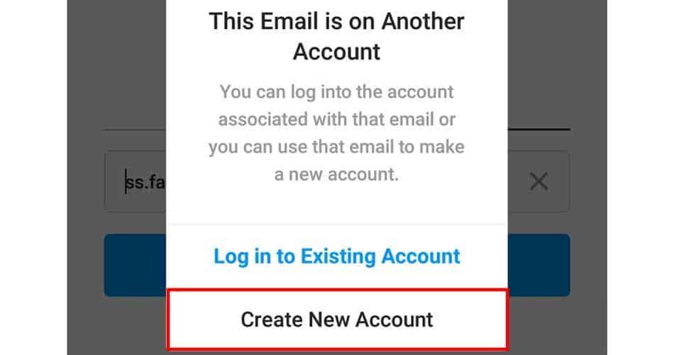 انشاء حساب انستقرام بواسطة البريد الإلكتروني