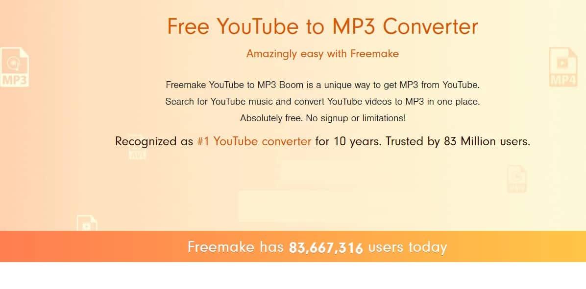 برنامج تحميل الأغاني FREEMAKE
