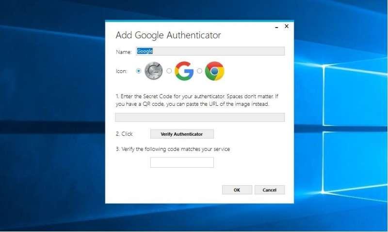 Google Authenticator على الويندوز