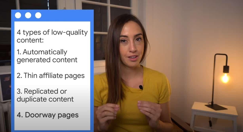 أنواع المحتوى الضعيف
