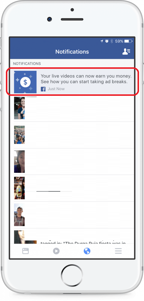 الربح من البث المباشر فيس بوك