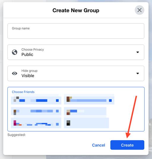 انشاء جروب فيس بوك الخطوة الاخيرة
