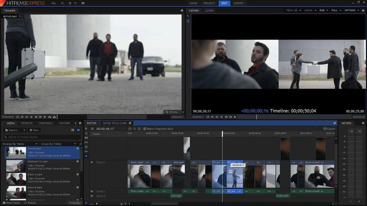 برنامج مونتاج HitFilm Express