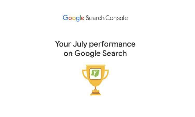 Google Search Console تقوم الان بارسال تقارير أداء المواقع شهريًا