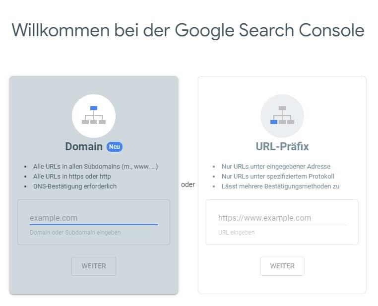 اضافة موقع الى Google Search Console
