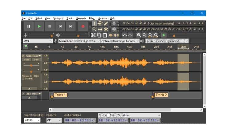 تحميل برنامج تسجيل الصوت اوداسيتي Audacity مجانا برابط مباشر