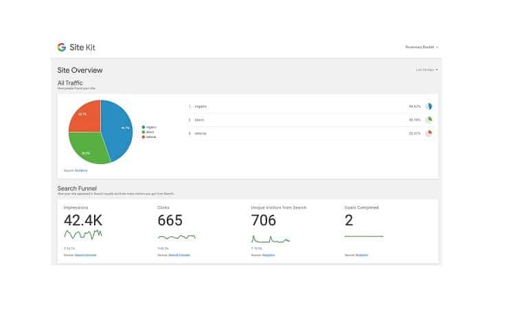 الاضافة الرسمية لـ جوجل في ووردبريس Site Kit