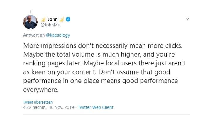 جوجل زيادة مرات الظهور في البحث لا يعني المزيد من النقرات