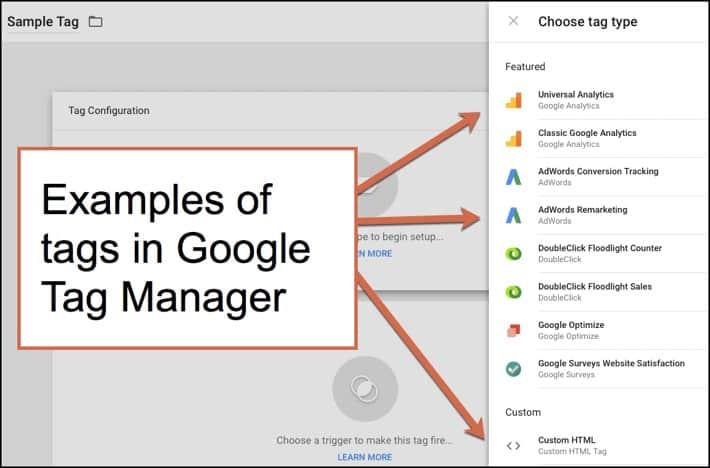 أمثلة من Google Tag Manager