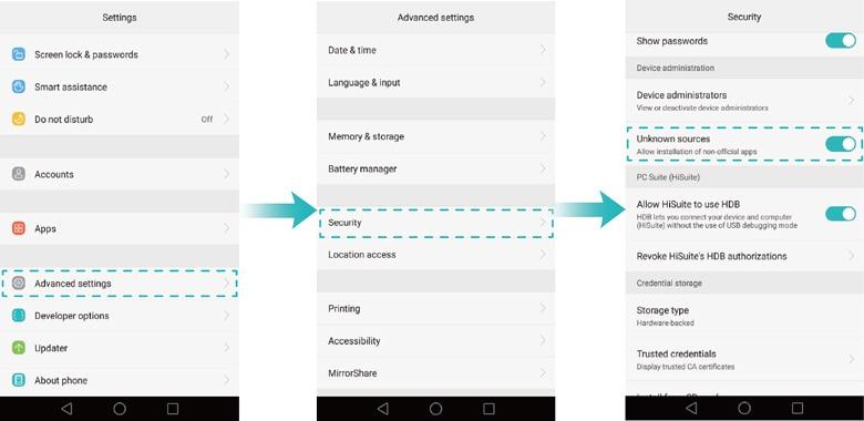تمكين التطبيقات في الهواتف المحمولة