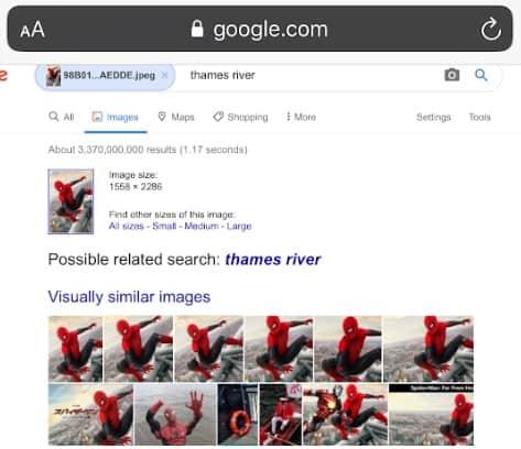 البحث بالصور لاجهزة ايفون
