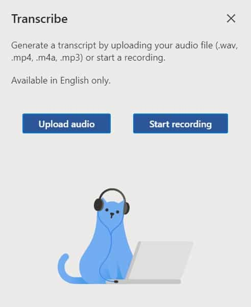 Transcribe- تحميل الصوت