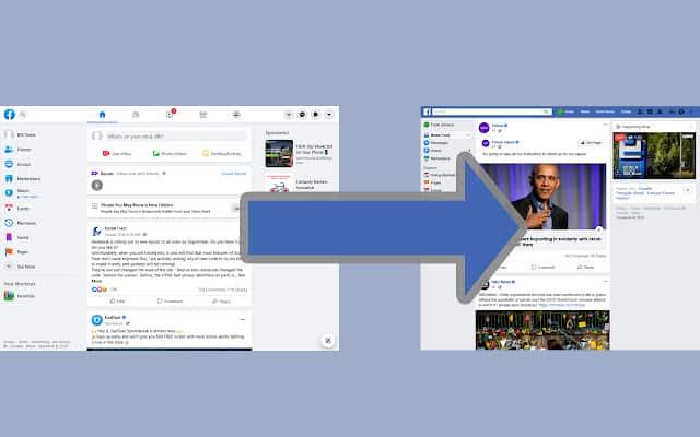 إضافة استرجاع شكل الفيس بوك القديم
