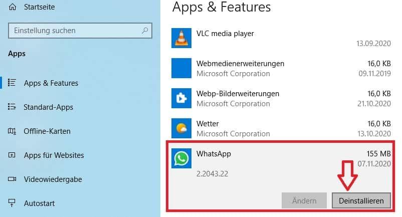 إلغاء تثبيت البرامج غير الضرورية لتسريع نظام التشغيل Windows 10.
